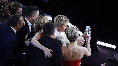 Ellen DeGeneres' star-studded Oscars selfie becomes most retweeted picture ever