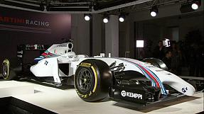 Williams shows off Martini-sponsored car