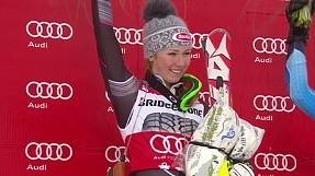 Shiffrin wins World Cup slalom title