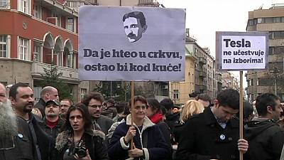 Serbia: Protest against transfer of inventor Nikola Tesla's ashes