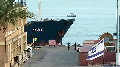Israel brings suspected arms ship to dock