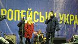 Виталия Кличко закидали яйцами и петардами
