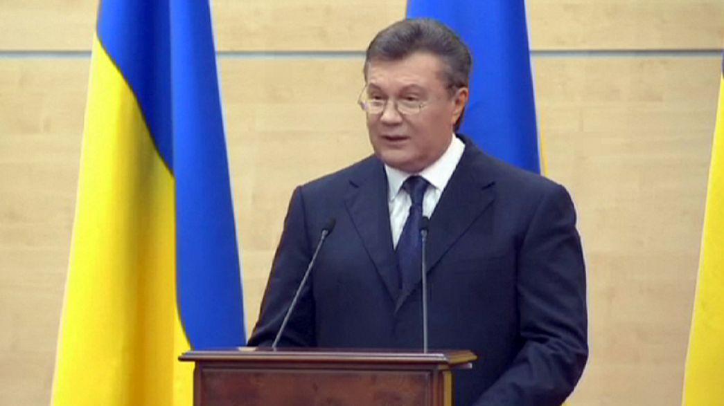 Yanukovich parla di nuovo da Rostov sul Don. Non ammesse le domande dei media