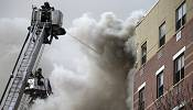 NY firefighters respond to reports of building collapse