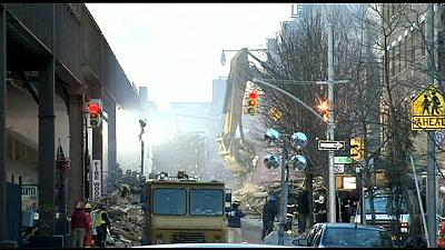 New York buildings collapse kills seven and injures up to 60