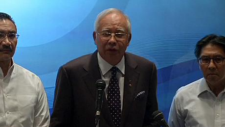 Missing flight MH370's communication systems disabled, Malaysia's PM says