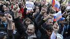 Ukraine's acting president blames 'Kremlin agents' for sparking deadly clashes