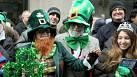 Protests at US St Patrick's Day Parades in New York and Boston