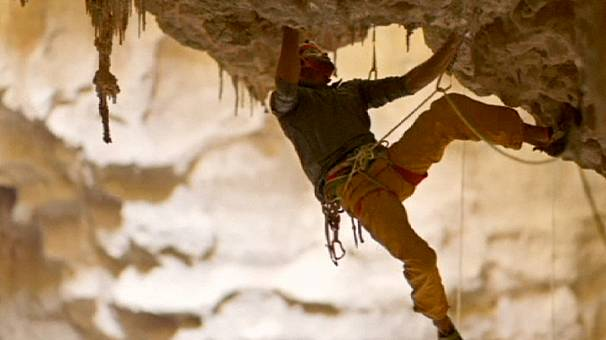 Record breaking climb out of the Majilis al Jinn cave in Oman