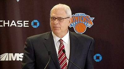 Phil Jackson back in the Big Apple as president of the New York Knicks