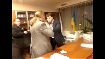 Ukrainian TV boss assaulted and forced to resign by far-right Svoboda MPs