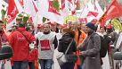 A Francoforte protesta il settore pubblico