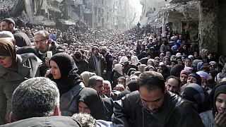 Жители Нью-Йорка провели флешмоб в поддержку Сирии