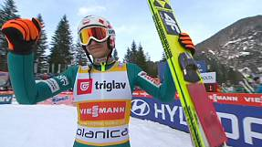 Kamil Stoch claims first World Cup ski jump title in Planica