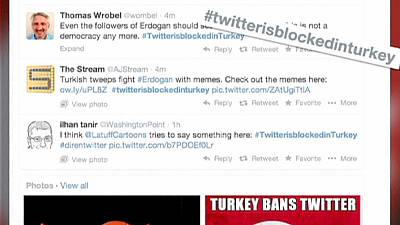 #Twitterisblockedinturkey trends on Twitter