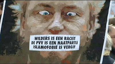 Anti-racist rally condemns Wilders' 'fewer Moroccans' jibe