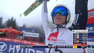 Ski jumping: Prevc secures second place overall
