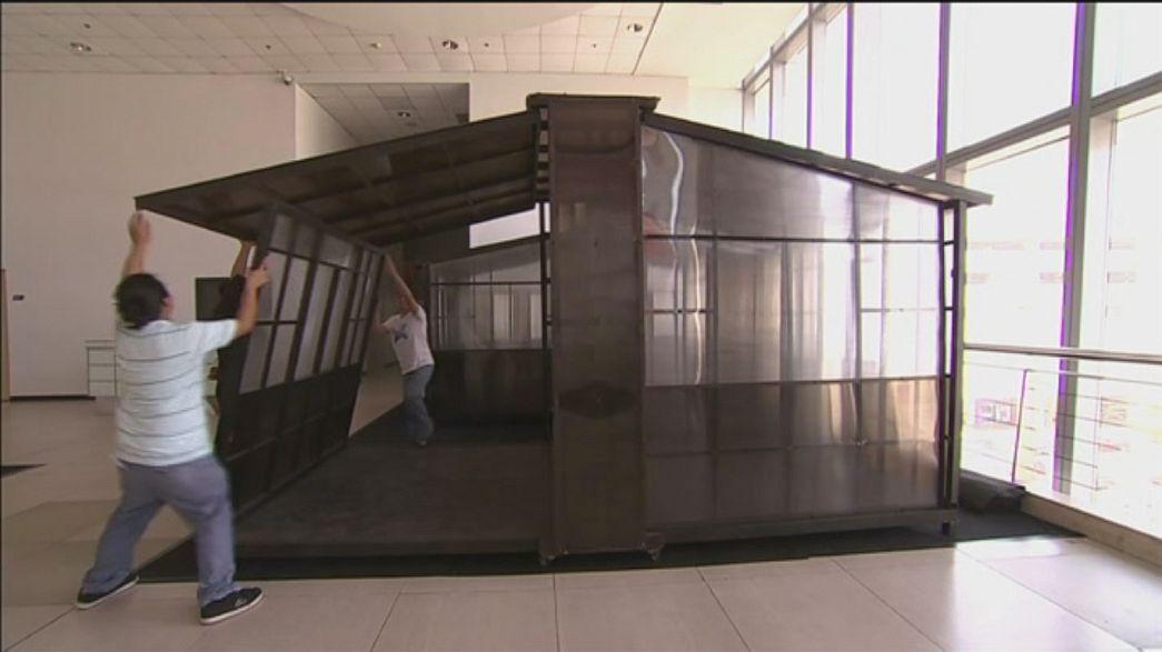 Ausklappbare Fertighäuser für philippinische Taifun-Opfer