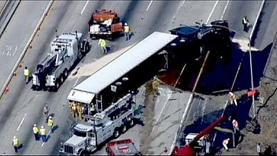 Honey spill causes major traffic jam in L.A.