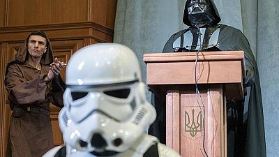 Darth Vader, the new candidate for Ukrainian presidency