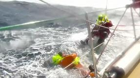 Andrew Taylor rescued after falling overboard