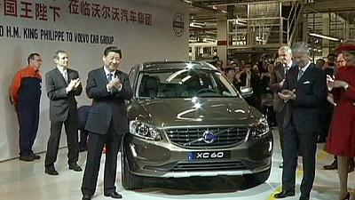 President Xi Jinping visits Chinese-owned Volvo car plant in Belgium