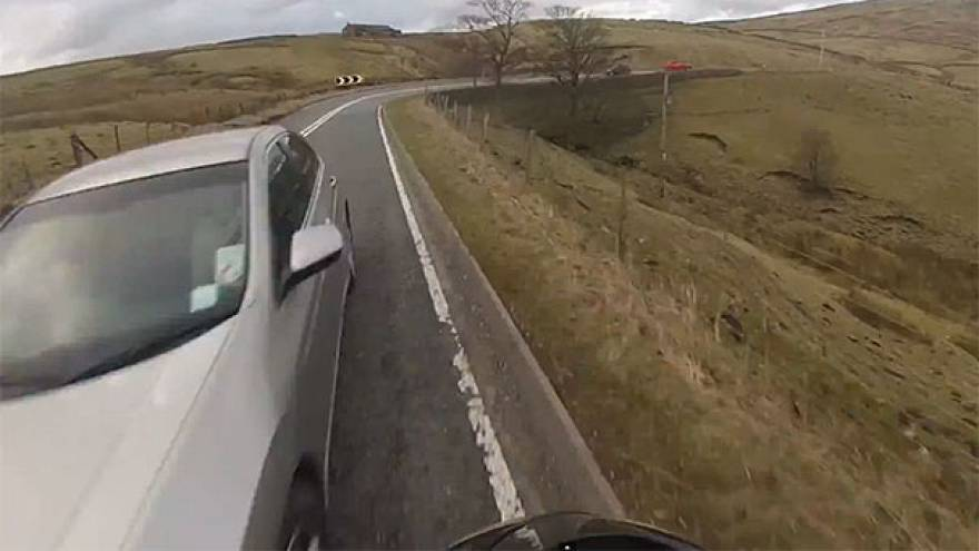 UK: Reckless biker publishes spectacular crash video in bid to warn others