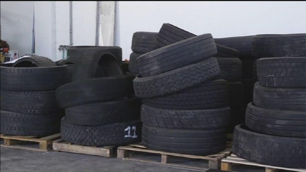Water Jet: un getto d'acqua per riciclare i pneumatici a fine vita