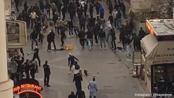 Watch: Chelsea and PSG supporters clash before Champions League match