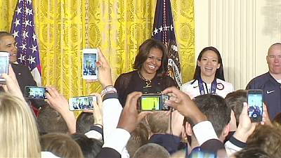 Obama hosts Olympians and Paralympians at White House