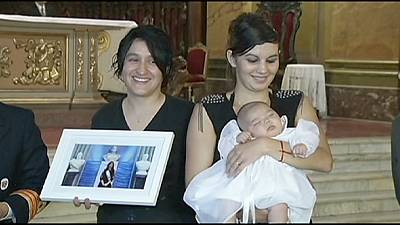 Argentina President Fernandez becomes godmother to same-sex couple's child
