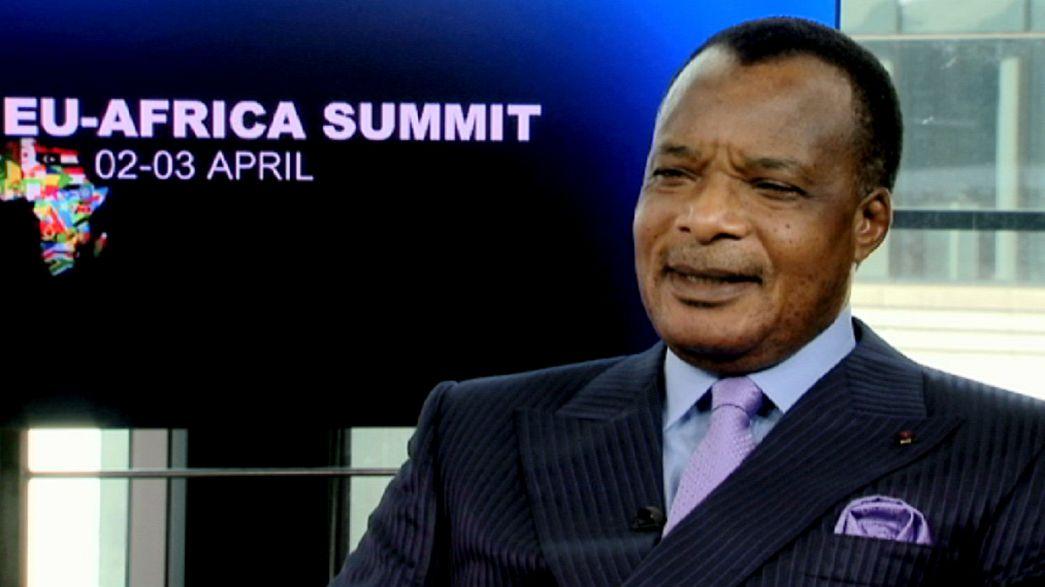 """Denis Sassou-Nguesso : UE et Afrique sont """"deux forces qui devraient se mettre ensemble pour avancer"""""""