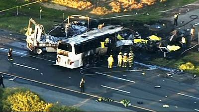 Coach crash kills nine US high school students