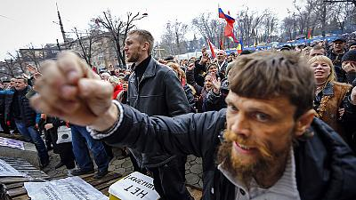 Pro-Russian agitation destabilising eastern Ukraine