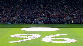 Liverpool mark 25th anniversary of Hillsborough disaster