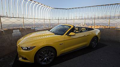 Ford Mustang takes a ride to the top of New York