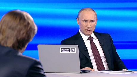 'Rubbish': Putin slams claims that Russia is behind Ukraine revolt
