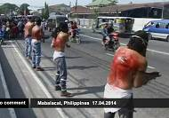 Self-flagellation during Holy week in Philippines