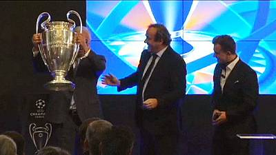 Champions League trophy arrives in Lisbon