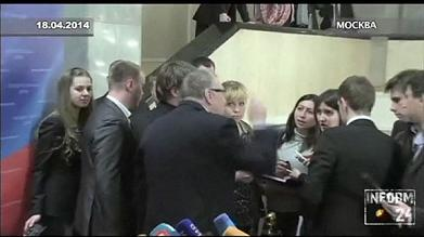 Russia: Politician's extraordinary tirade at pregnant journalist