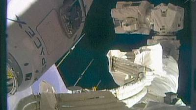 Dragon docks at International Space Station