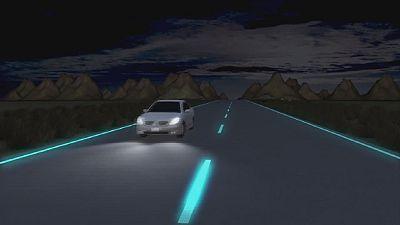 L'autoroute qui s'auto-éclaire
