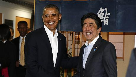 Sushis et accords commerciaux pour Obama au Japon