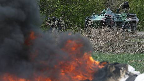 Ukrainian army storms illegal checkpoints killing at least five