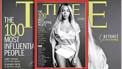Beyonce tops Time's list of 100 most influential people.