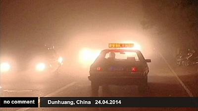 Massive sandstorm in China – nocomment