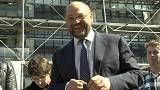 European choice: Martin Schulz campaigning to spread wealth
