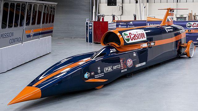 Bloodhound SSC: Saatte 1600 km hızla giden araç