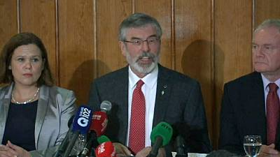 Sinn Fein leader Gerry Adams released from police custody