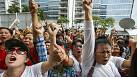 Tension on streets of Bangkok after ousting of prime minister